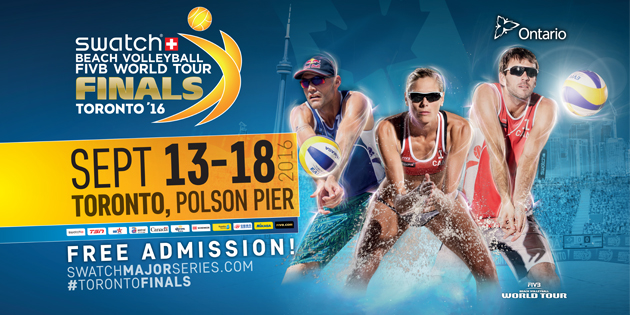 Sept 16 - 18: Swatch Beach Volleyball FIVB World Tour Finals
