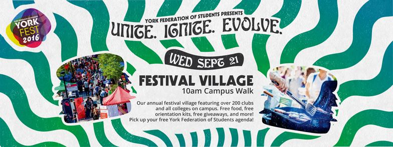 Sept 21: Yorkfest Welcome Week 2016 - Festival Village