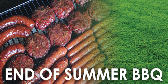 Aug 26: End of Summer BBQ with Activities - Baseball, Tennis + More