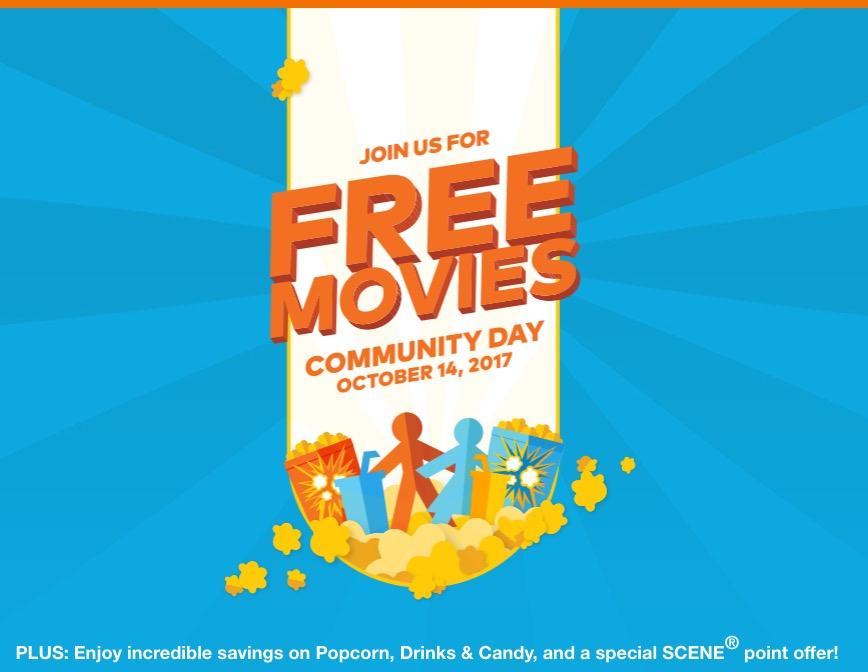 Oct 14: Cineplex Community Day - Free Movies