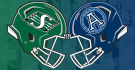 Sept 28: Toronto Argonauts vs. Saskatchewan Roughriders